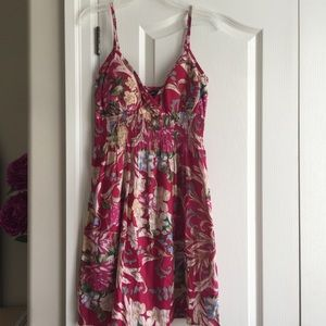 NWOT Pink Spaghetti Strap Floral Sundress